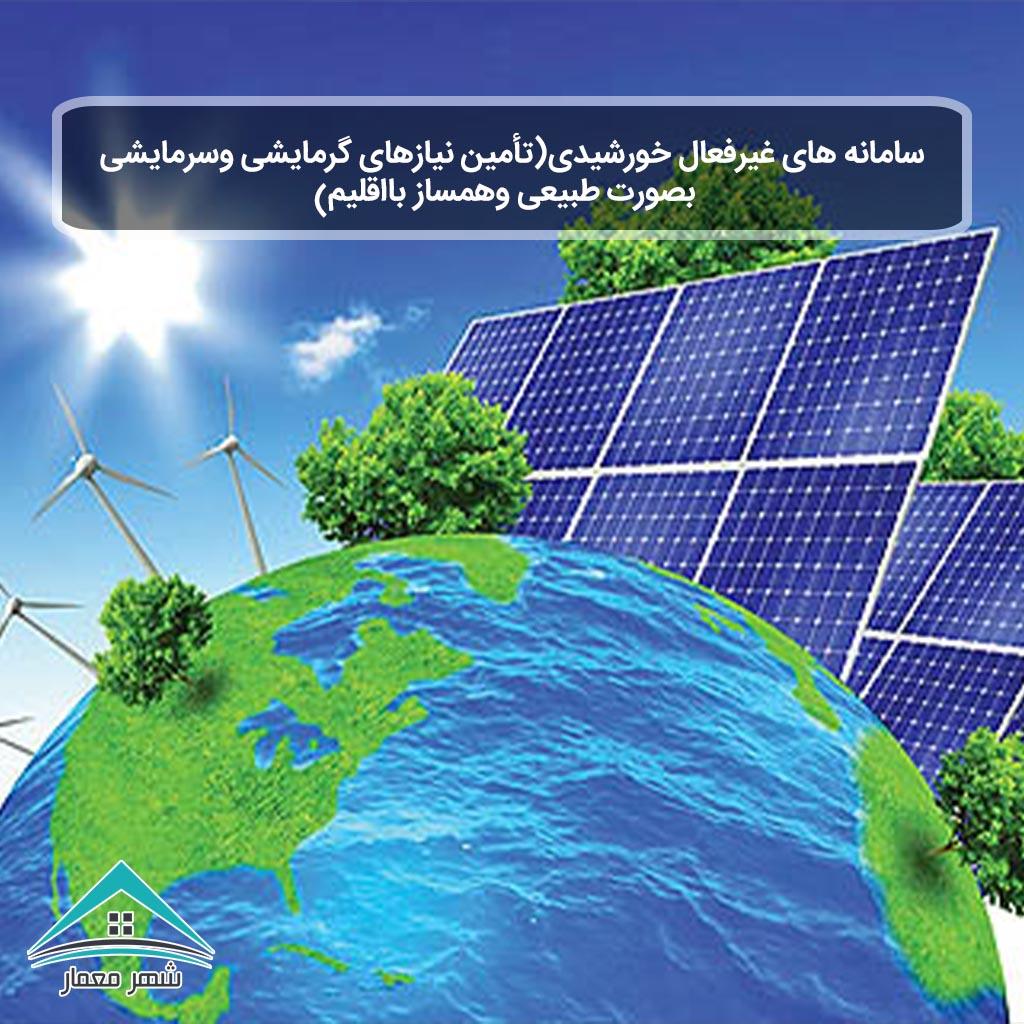 شاخص-سامانه های غیرفعال خورشیدی(تأمین نیازهای گرمایشی وسرمایشی بصورت طبیعی وهمساز بااقلیم)