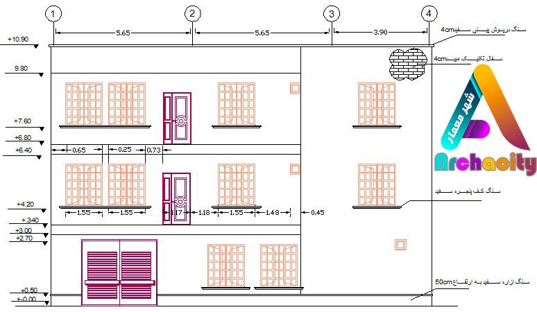 تبدیل نمای ترسیم شده به نقشه فاز دو معماری
