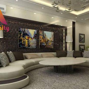 طراحی پذیرایی یک واحد مسکونی