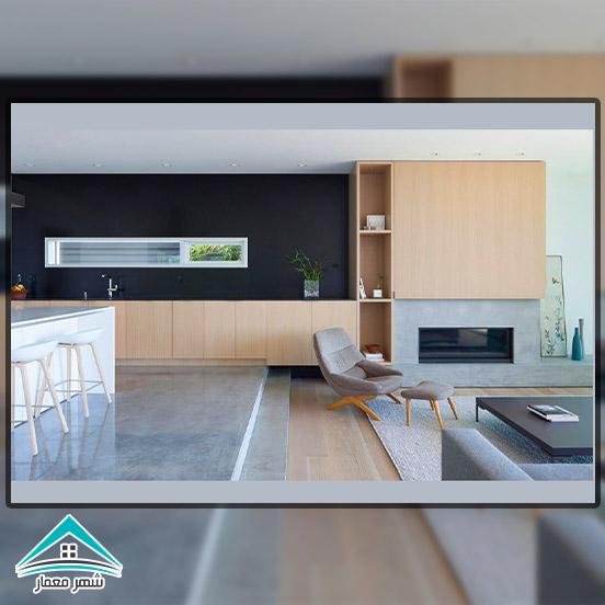 روشهای عرصه بندی در طراحی داخلی آشپزخانه و ارتباط با اتاق نشیمن