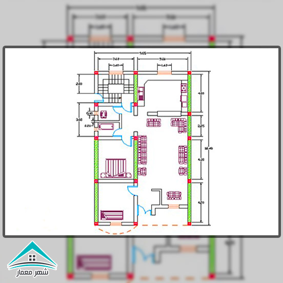 محاسبه دیوارهای نسبی ساختمان های شناژی