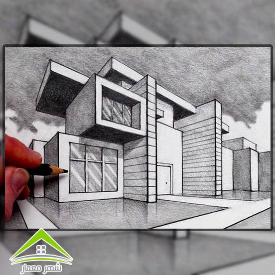 2.طراحی حجم و شکل بنا (پرسپکتیو)