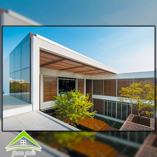4.استفاده از اجسام در نمای ساختمان