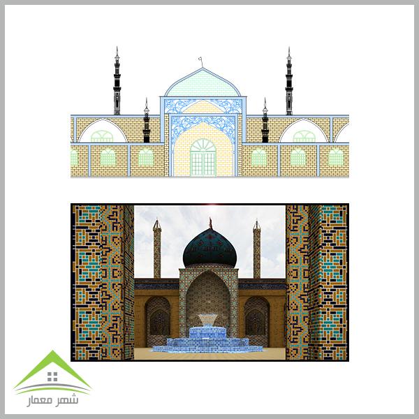 طراحی یک مسجد زیبا و بزرگ با ظرفیت 2000 نفر
