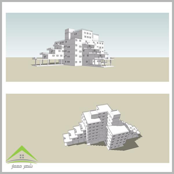 پروژه کامل مجتمع مسکونی از بی نظیر ترین طرح های معماری