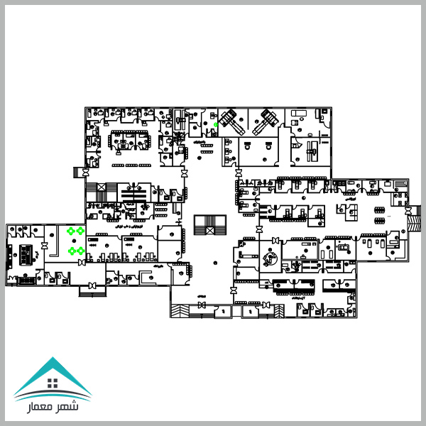 پروژه کامل طراحی بیمارستان (طرح 4 کارشناسی معماری)