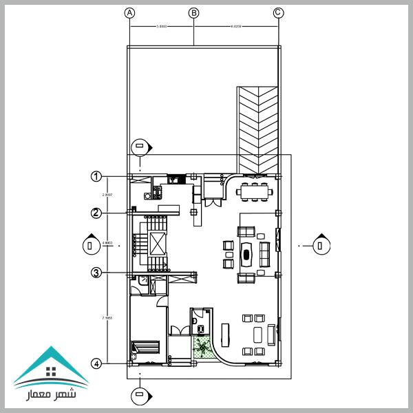 دانلود پروژه کامل طراحی فنی ساختمان (مسکونی 3 طبقه)