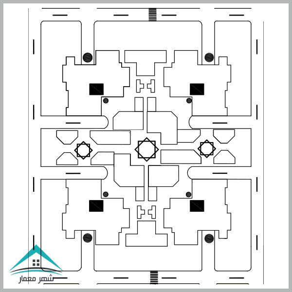 دانلود پروژه مجتمع مسکونی طرح 5 (کارشناسی معماری)