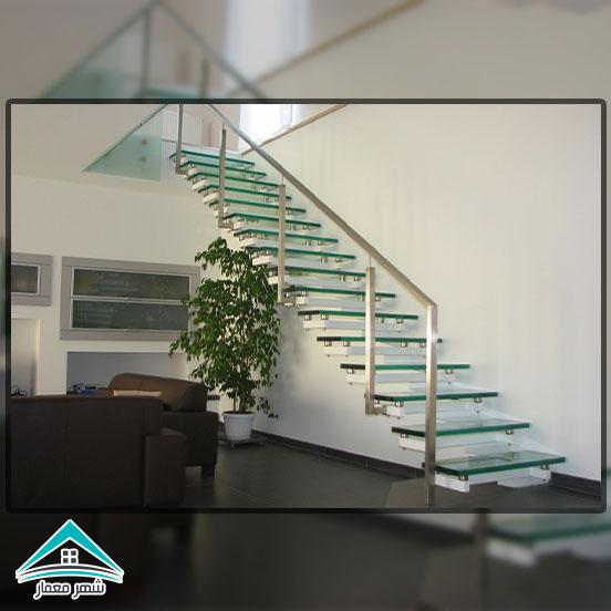 شیشه، موادی لوکس برای ساخت پله