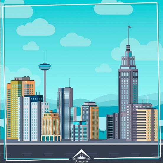 دستهبندی ساختمانهای ساخته شده در یک شهر
