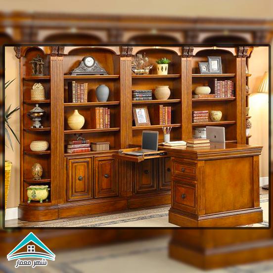 استفاده از چوب برای پارتیشن بندی، قفسهها و شلفهای چوبی