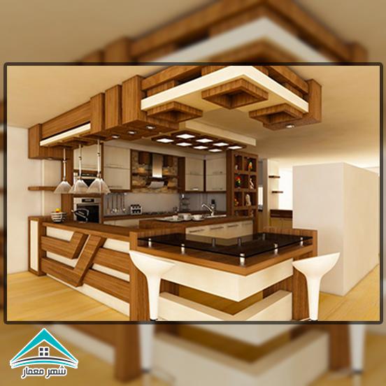 استفاده از چوب در طراحی داخلی و جزئیات آشپزخانه