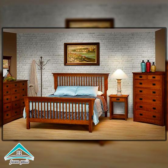 استفاده از چوب در اتاق خواب