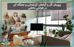 پرورش گل و گیاهان آپارتمانی و جایگاه آن در طراحی داخلی