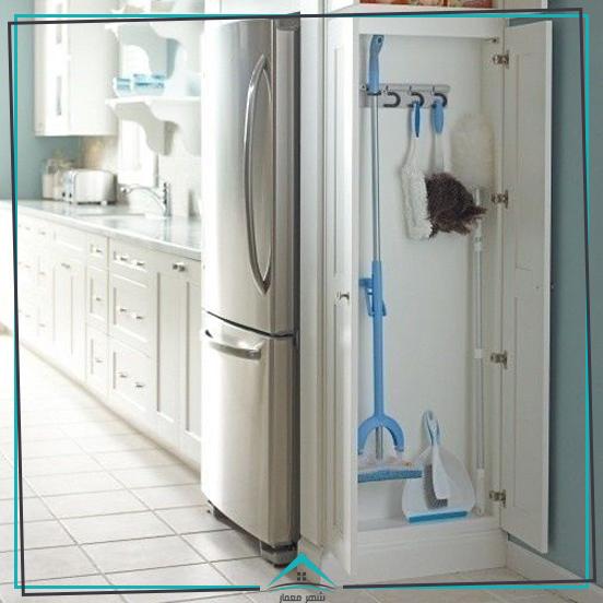 12. استفاده از فضای خالی کنار یخچال